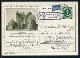 """Bundesrepublik Deutschland / 1952 / Bildpostkarte Mi.P 17 """"BRAUNSCHWEIG"""" Landpost-Stempel BOCKELSKAMP Ueb. CELLE (11593) - [7] Federal Republic"""
