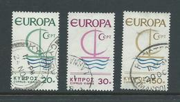 Cyprus 1966 Europa Yacht Set 3 FU - Cyprus (Republic)