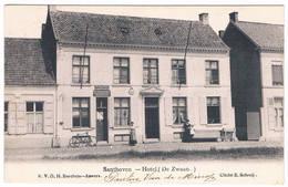 Santhoven - Hotel (De Zwaan) 1907  (Geanimeerd) - Zandhoven
