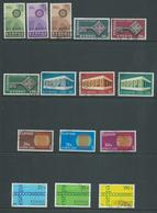 Cyprus 1967 - 1971 The 5 Europa Sets FU - Cyprus (Republic)