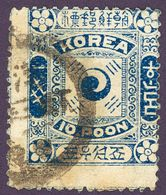 KOREA COREE 1895 Sc 7 Mi 4 II Yt 7 Charnière Dark Blue IMPERIAL KOREAN POST - Corea (...-1945)
