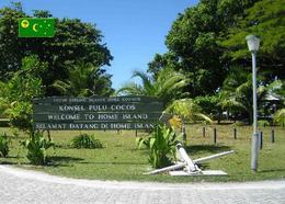 Cocos (Keeling) Home Island Welcome Sign New Postcard Kokosinsel AK - Cocos (Keeling) Islands