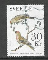 Zweden, Yv 3107 Jaar 2016, Hoge Waarde, Vogels, Gestempeld - Suède
