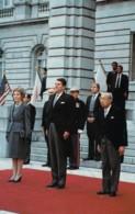 US President Reagan & Japan Emperor Hirohito Meet 1983, C1980s Vintage Postcard - People