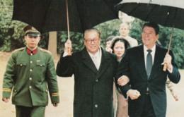 US President Reagan & China Premier Zhoa Ziyang 1983, C1980s Vintage Postcard - People
