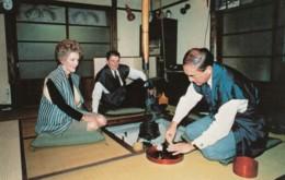 US President Reagan Visits Japan, Prime Minister Nakasone 1983, C1980s Vintage Postcard - People