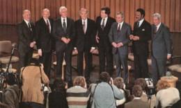 1984 Democrat Party Primary Televised Debate, Including Jackson Mondale Glenn Hart McGovern, C1980s Vintage Postcard - Political Parties & Elections