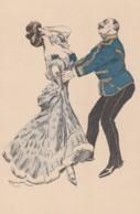 Artist Signed Reznicek Image Couple Dances, Simplicissimus Series V No 11, C1900s/10s Vintage Postcard - Reznicek, Ferdinand Von