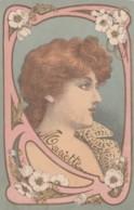 Unsigned Artist Image Beautiful Art Nouveau Woman Fashion, C1900s Vintage Postcard - Illustrators & Photographers