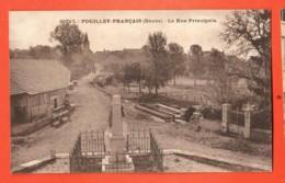 TSC-06 Pouilley-Français    La Rue Principale. Circulé Sous Enveloppe. - Otros Municipios