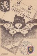 Carte    FRANCE   43éme   Congrés   International  De   STENO  DACTYLO     BESANCON   1953 - Marcophilie (Lettres)