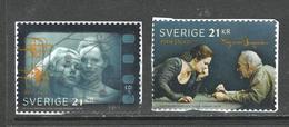 Zweden, Yv 3209-10 Jaar 2018, Hoge Waarden, Reeks,   Gestempeld Op Papier - Suède