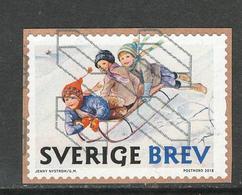 Zweden, Yv 3221 Jaar 2018,   Gestempeld Op Papier - Suède