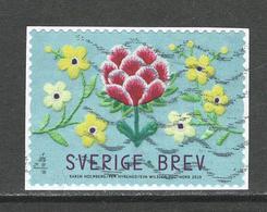 Zweden, Yv  Jaar 2019,   Gestempeld Op Papier - Suède
