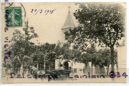 - BIRKADEM - Eglise - ( Algérie ), écrite, 1908, Attelage, Caléche, éditeur J. Geiser, Alger, BE, Scans. - Algerije