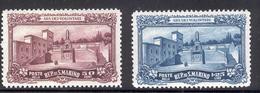 SAN MARINO 1927 War Memorial Scott Cat. No(s). 108-109 MNH (Short Set) - San Marino