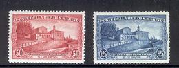 SAN MARINO 1928 Capuchin Church And Convent Scott Cat. No(s). 111-112 MH (Short Set) - San Marino