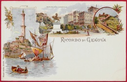 CPA AK Précurseur Italie ITALIA - Ricordo Di GENOVA Genoa Liguria - Litho Künzli Frères N° 160 - Genova