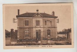CPSM BOISSY MAUVOISIN (Yvelines) - Mairie Et Ecole - Autres Communes