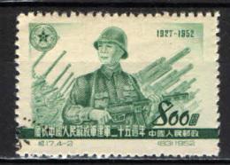 CINA - REPUBBLICA POPOLARE - 1952 - SOLDATO ED ARTIGLIERIA - USATO - Usati