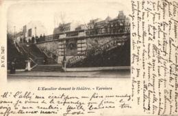 BELGIQUE - LIEGE - VERVIERS - L'Escalier Devant Le Théâtre. - (précurseur). - Verviers