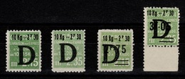 Colis Postaux - Rare - Certificat Calvés - YV 160 N** 161 N** 162 N** 163 N* (infime Trace) Cote 720 Euros - Colis Postaux