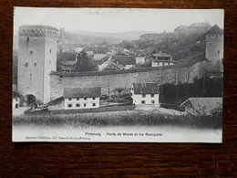 L17/223 Suisse. Fribourg. Porte De Morat Et Les Remparts - FR Fribourg