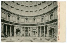 ITALIA : ROME / ROMA - PANTHEON CON IL MONUMENTO A VITTORIO EMANUELE - Panthéon