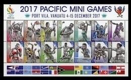 Vanuatu 2017 Mih. 1548/61 Pacific Mini Games In Port Vila. Football. Basketball. Volleyball. Tennis. Boxing MNH ** - Vanuatu (1980-...)