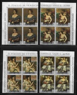 San Marino 1966 Titian Paintings, Blocks Sc # 639-642 VF MNH** (NR-7), STOCK IMAGE !!! - Art