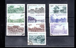 COREE DU SUD  336/345 OBLITERES SUR DES PAYSAGES LOCAUX - Corea Del Sud