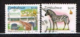 ZIMBABWE /Oblitérés/Used /2000 - Centre Commercial Et Zèbre - Zimbabwe (1980-...)