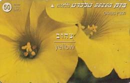 TARJETA TELEFONICA DE ISRAEL. (FLORES - FLOWERS) Yellow, 811K. BZ-211. (075) - Flores