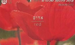 TARJETA TELEFONICA DE ISRAEL. (FLORES - FLOWERS) Red, 811G. BZ-213. (074) - Flores