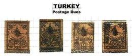 TURKEY, Discount Sale, Postage Dues, Yv 1/4, Used, F/VF, Cat. € 770 - 1921-... République