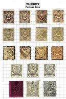 TURKEY, Discount Sale, Postage Dues, Yv 5/8, 15/16, 18/23, 25/30, */o M/U, F/VF, Cat. € 144 - 1921-... République