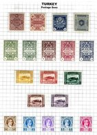 TURKEY, Discount Sale, Postage Dues, Yv 55/73, * MLH, F/VF, Cat. € 58 - 1921-... Republic