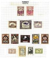 TURKEY, Discount Sale, Postal Tax, Yv 13/21 Disc., */o M/U, F/VF - 1921-... République