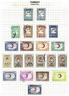 TURKEY, Discount Sale, Postal Tax, Yv 46/62 Disc., */o M/U, F/VF - 1921-... République
