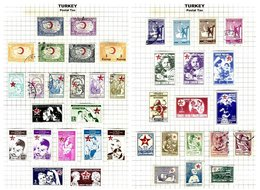 TURKEY, Discount Sale, Postal Tax, Yv 53/56, 58, 64/66, 68/70, 75/84, 85/100 Disc., */o M/U, F/VF, Cat. € 24++ - 1921-... République