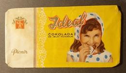 1960's Yugoslavia Serbia SUBOTICA Pionir - LABEL VIGNETTE Paper Package Ideal MILK CHOCOLATE - Girl - Cioccolato