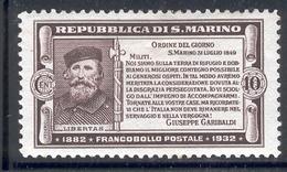 SAN MARINO 1932 Garibaldi Scott Cat. No(s). 143 MH (Short Set) - San Marino