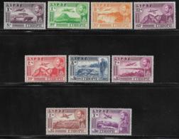 Ethiopia Scott # C23-4,C26-33 Mint Hinged Part Set Various Designs, 1947-55, CV$60.10 - Ethiopia