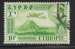 Ethiopia Scott #C24-5 Used Plane Over Volcano,1947 - Ethiopia