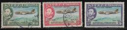 Ethiopia Scott #C38-40 Used Plane Over Mountains,1955 - Ethiopia