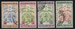 Ethiopia Scott #C41-2,C4-5 Used 25th Anniv. Of Constitution,1956 - Ethiopia