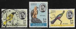Ethiopia Scott #C77,79-80 Used Birds, 1963 - Ethiopia