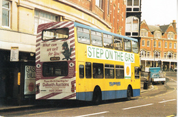 Postcard Of Bournemouth Volvo Yellow Bus (5419) - Buses & Coaches
