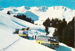 Postcard Of Adelboden Autoverkehr Nach Geils Hahnenmoos- Skigebiet (5419) - Buses & Coaches