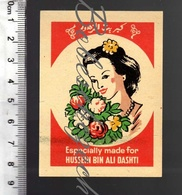 K2-160 CZECHOSLOVAKIA SOLO Match Works  Packet Label Vintage Export Kingdom Of Jordan Hussein Bin Ali Dashti - Boites D'allumettes - Etiquettes